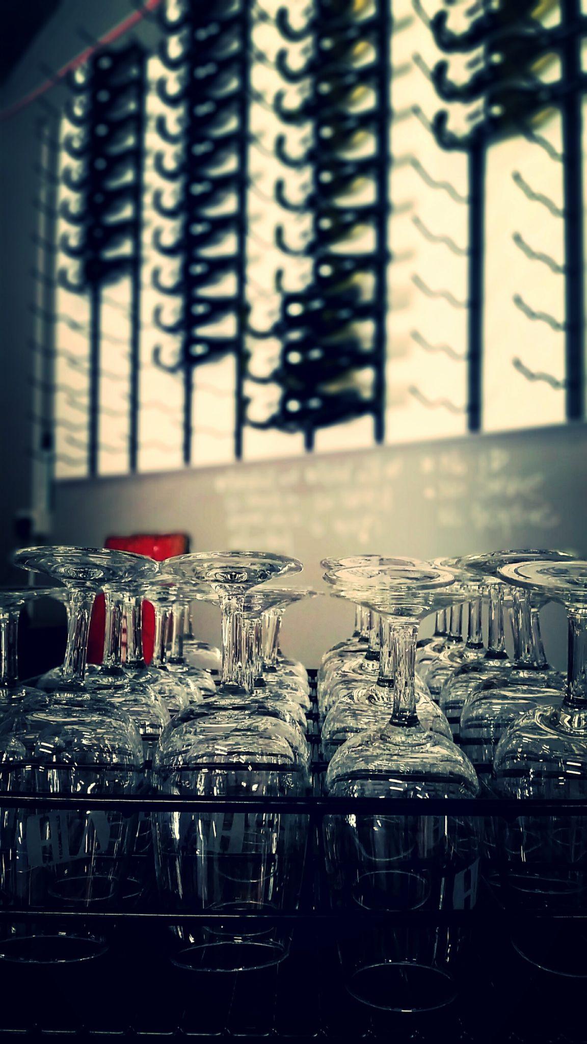KD Winery Glasses & Wine Wall